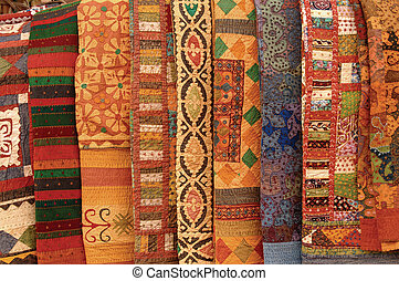 Textiles - Colorful textiles from around the world