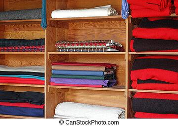 Textiles on Shelves