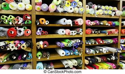 textiles, tissu, rouleaux