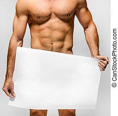 textilfreie , muskulös, mann