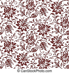 textilie, vektor, květinový, grafické pozadí
