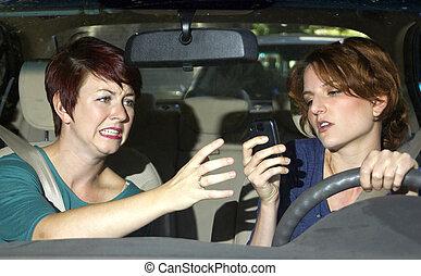 texting, 開車