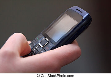 Texting on an old cell phone