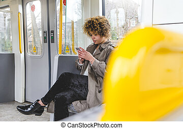 Texting on the train