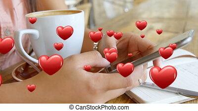 texting, pause-café, 4k, quoique