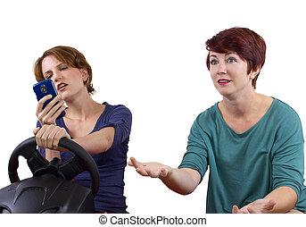 texting, y, conducción