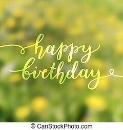 textning, födelsedag, lycklig