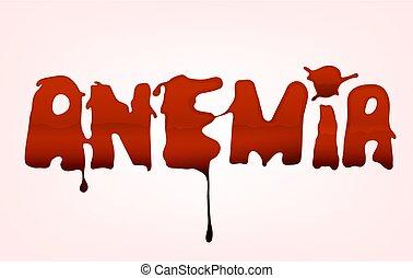 textning, fläck, blod, anemi