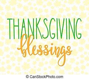 textning, välsignelser, tacksägelse, typografi