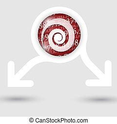 texto, abstratos, setas, dois, textura, espiral, números, quadro