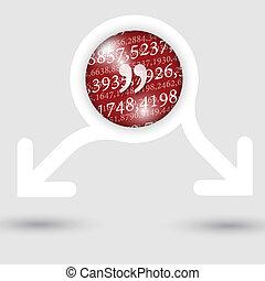 texto, abstratos, setas, dois, textura, marca, números, quadro, citação