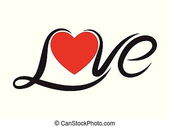 texto, amor, tipografia