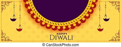 texto, bandeira, espaço, feliz, feriado, diwali