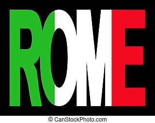 texto, bandera, roma, italiano