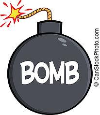 texto, bomba, caricatura