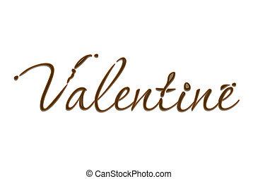 texto, chocolate, valentine