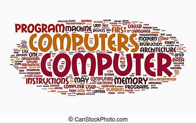 texto, computador, nuvens