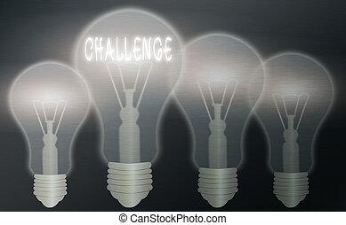 texto, concept., o, proceso, exposición, señal, idea, pensamiento, solución, prueba, challenge., provocador, luz, actividad, bombillas, foto, fisiológico, vendimia, actuación, realista, coloreado, conceptual