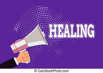 texto, concepto, tenencia de la mano, análisis, salud, ...