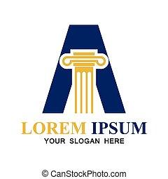 texto, consejería jurídica, vector, alfabeto, espacio, logotipo, su, lema, ilustración, tagline