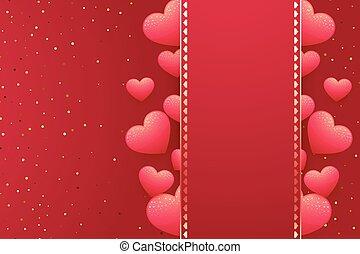texto, corações, seu, fundo, espaço