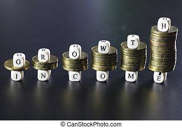 texto, crescimento, letra, renda