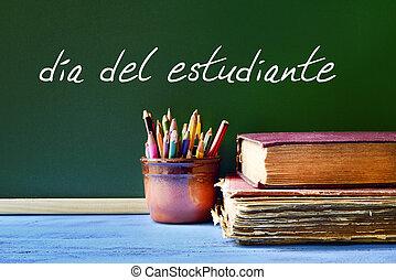 texto, dia, del, estudiante, estudiantes, día, en, español