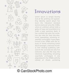 texto, energia, innovations, cartão, modelo, tipos