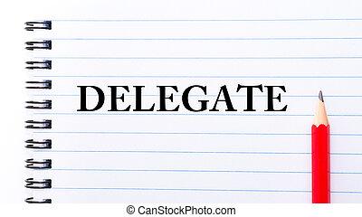 texto, escrito, cuaderno, delegado, página