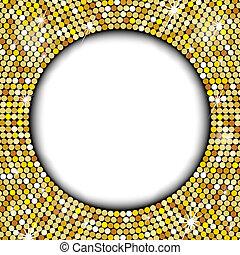 texto, espaço, seu, ouro, quadro