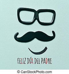 texto, feliz, día de padres, en, español