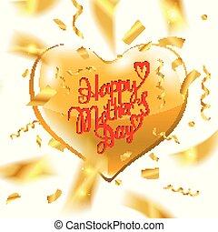 texto, feliz, día, madre