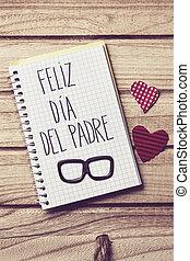 texto, feliz, dia, del, capellán, feliz, día de padres, en, español