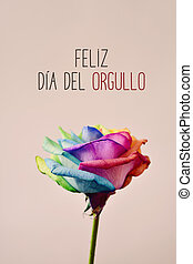 texto, feliz, dia, del, orgullo, feliz, orgullo alegre, en, español