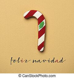 texto, feliz, navidad, feliz navidad, en, español