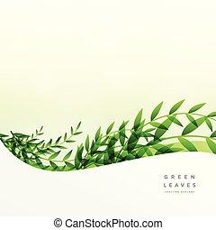 texto, folhas, experiência verde, espaço