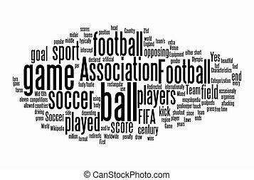 texto, futebol, nuvens