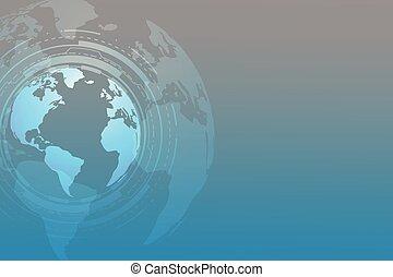 texto, global, tecnologia, fundo, espaço