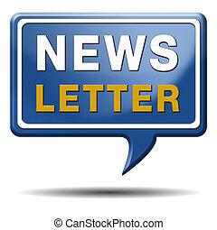 texto, globo, newsletter