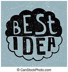 texto, idea, mejor