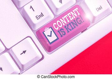 texto, king., letra, crescendo, results., conceito, visibilidade, non, pago, conteúdo, busca, significado, focalizado, marketing