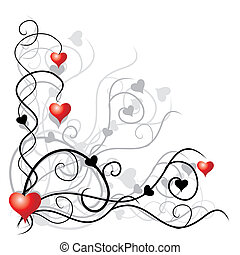 texto, lugar, su, plano de fondo, valentine