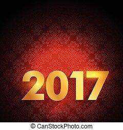texto, luxo, fundo, ano, novo, 2017, vermelho, feliz