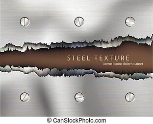 texto, modelo, fundo, metall