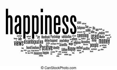texto, nuvens, felicidade