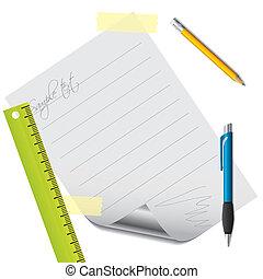 texto, papel, acessórios, alinhado