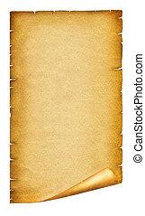 texto, papel, antigüidade velho, fundo, scroll, texture., branca