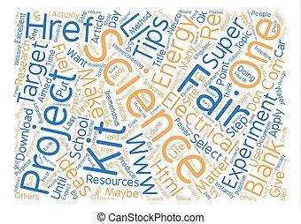 texto, plano de fondo, justo, tremendo, ciencia, palabra, nube, concepto, puntas