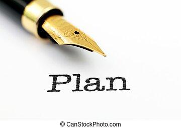 texto, pluma, fuente, plan