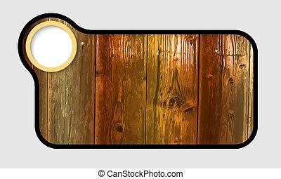 texto, quadro, com, textura madeira